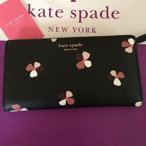 Kate Spade Camron Dust Buds Ditsy Large WALLET